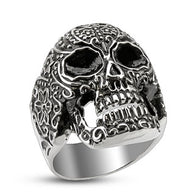 Day of the Dead Skull Cast Biker Stainless Steel Rings