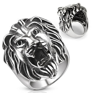 Lion Head Cast 316L Stainless Steel Rings Band