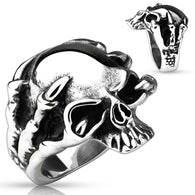 Dragon Claw Skull Cast Biker Stainless Steel Rings