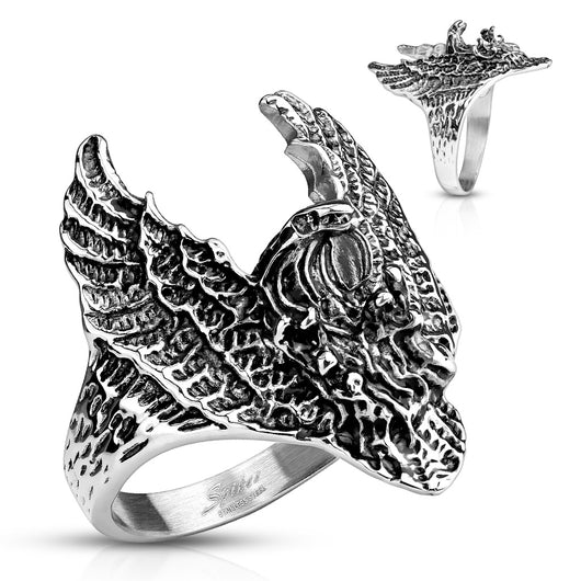 Flying Eagle Biker Stainless Steel Rings