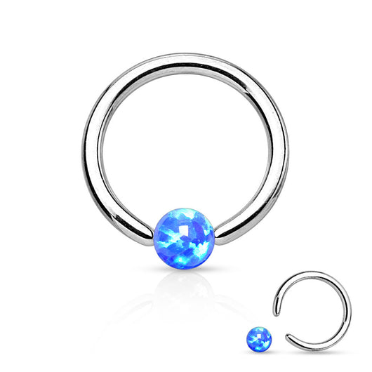 Synthetic Opal Ball 316L Surgical Steel Captive Bead Ring