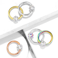 Crystal Paved Ferido Ball Captive Bead Ring Nose Ring Helix Ear Cartilage