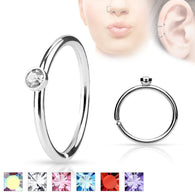 Tiny CZ Ear Cartilage Daith Helix Tragus Nose Rings