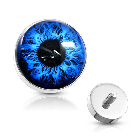 5MM Eyeball 316L Surgical Steel Internal Threaded Dermal Anchor Top