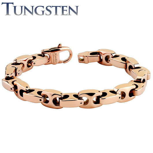 Anchor Linked Rose Gold Tungsten Carbide Chain Bracelets
