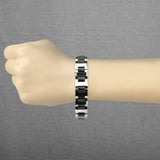 Heavy Width H Black IP Links Tungsten Carbide Chain Bracelet