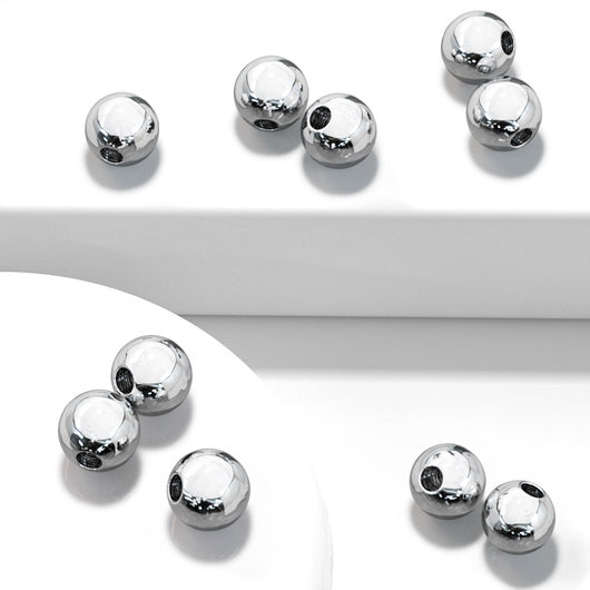10 Pc Pack Threaded Surgical Steel balls For Tragus Eyebrow Cartilage Labret Piercing