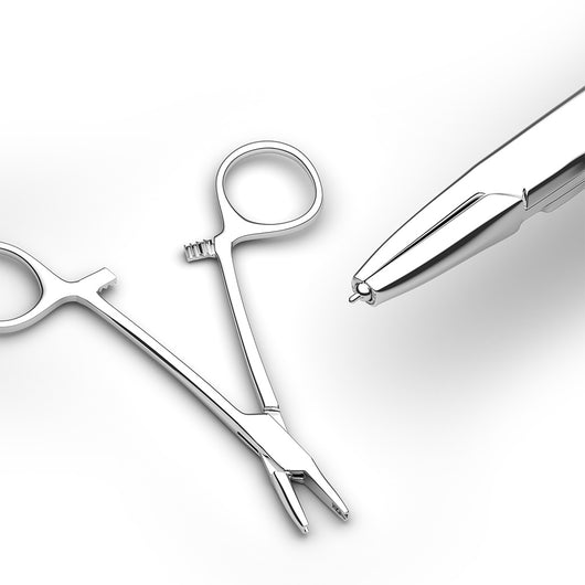 Dermal Anchor Tube Hemostat Forceps For Dermal Top Piercing Tools