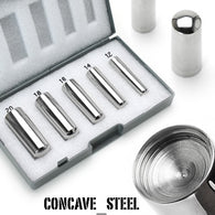 316L Surgical Steel Stretching Kit with Case (Large Size Gauge) Piercing Tools
