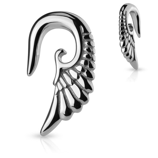 1 Pc Angel Wing Hanging Surgical Steel Ear Taper Plugs
