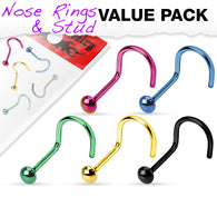 5 Pcs Value Pack Of Titanium Dome Top Nose Screws