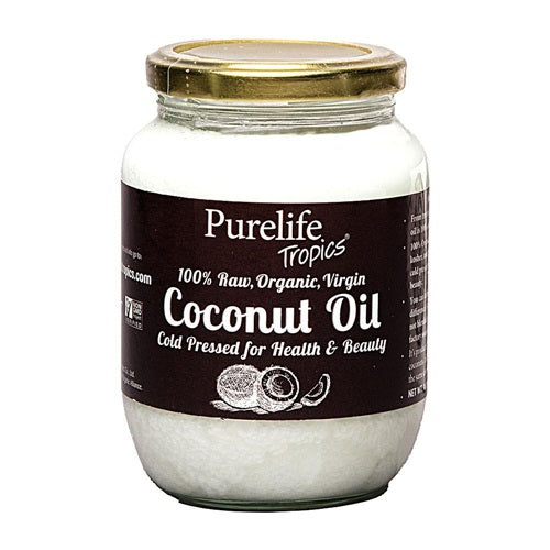 16.9 FL OZ. Raw Organic Virgin Coconut Oil - Pure Life Tropics Coconut Oil