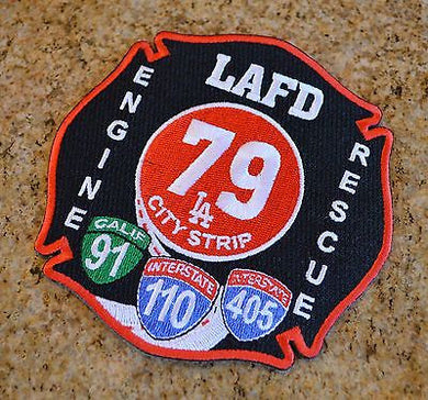Los Angeles Fire Engine Rescue 79 LA City Strip Patch ++ Mint LAFD CA