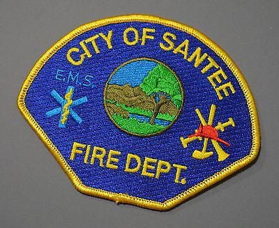 Santee California Fire Department Patch ++ Mint San Diego CA