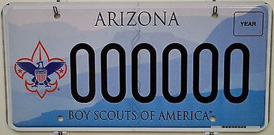 Arizona DMV Sample License Plate - Boy Scouts of America ++ HTF