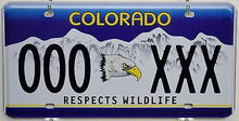 Colorado Respects Wildlife Eagle Sample License Plate Tag ++ CO
