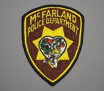 McFarland California Police Patch - o/s Brown CHP style CA