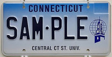 Central Connecticut State University Sample License Plate Tag ++ CT