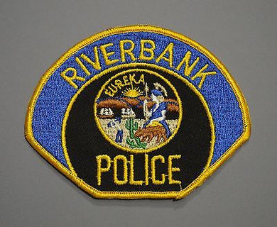 Riverbank California Police Patch ++ Defunct Mint Stanislaus County CA