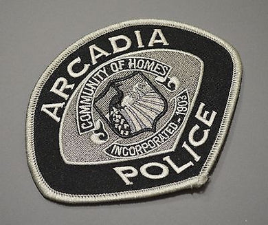 Arcadia California Police Patch ++ Mint Los Angeles County CA
