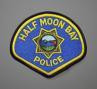 Half Moon Bay California Police Patch ++ Defunct - Last Issue Mint CA