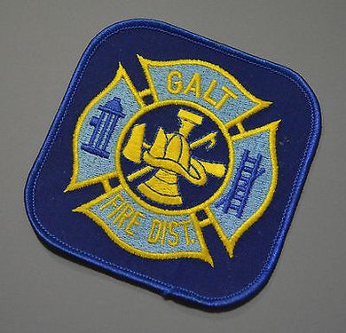Galt California Fire Department Patch ++ Sacramento County CA