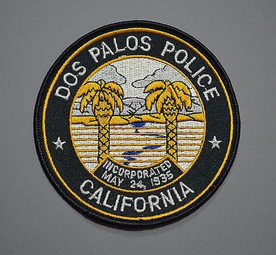 Dos Palos California Police Patch ++ Mint o/s 1993 Merced County CA