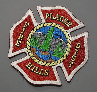 Placer Hills California Fire District Patch ++ Placer County CA