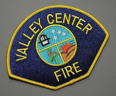 Valley Center Fire Patch ++ Mint San Diego County CA