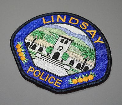 Lindsay California Police Patch ++ Mint Tulare County CA