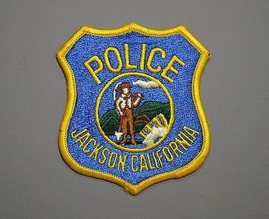 Jackson California Police Patch ++ Old Style Shield F/E CA