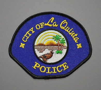 La Quinta California Police Patch ++ Old Style Mint Riverside County CA