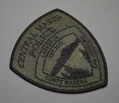 Central Marin Police California Subdued SWAT SRT Patch ++ Mint CA HTF