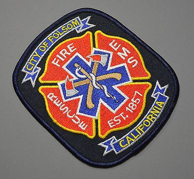 Folsom California Fire Department Patch ++ Sacramento County CA