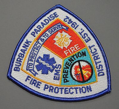 Burbank Paradise Fire Protection District Patch ++ California CA