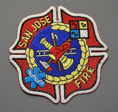 San Jose California Fire Department Patch ++ Santa Clara County CA