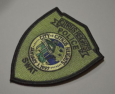 Citrus Heights California Police SWAT Team Patch ++ Sacramento County CA