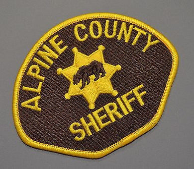 Alpine County California Sheriff Patch ++ Mint CA