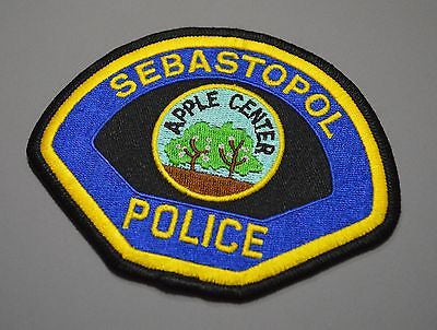 Sebastopol California Police Patch ++ Mint Sonoma County CA