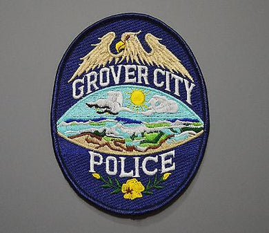 Grover City California Police Patch ++ Mint San Luis Obispo County CA