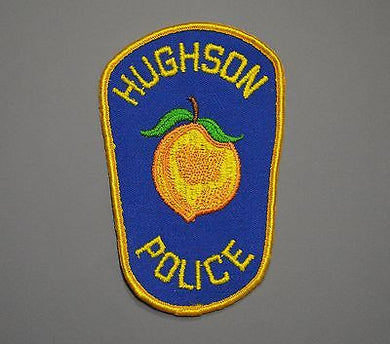 Hughson California Police Patch ++ Mint Stanislaus County CA