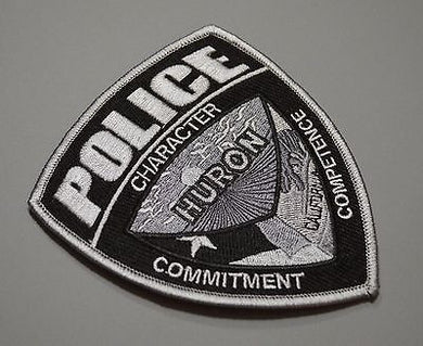 Huron California Police Subdued Patch ++ Mint Fresno County CA