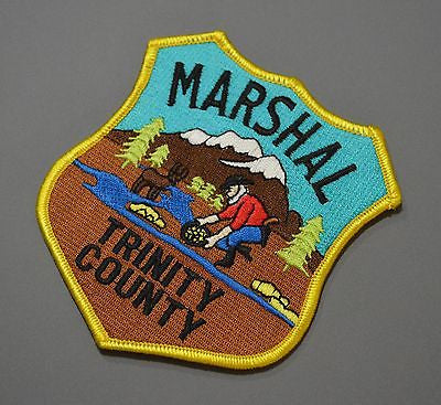 Trinity County California Marshal Patch ++ Obsolete Style Gold Prospector CA
