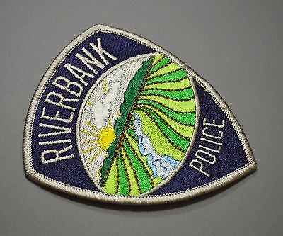 Defunct Riverbank California Police Patch ++ Stanislaus County CA