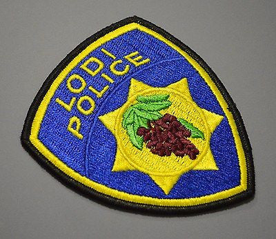 Lodi California Police Patch ++ Mint o/s 1989 Issue San Joaquin County CA