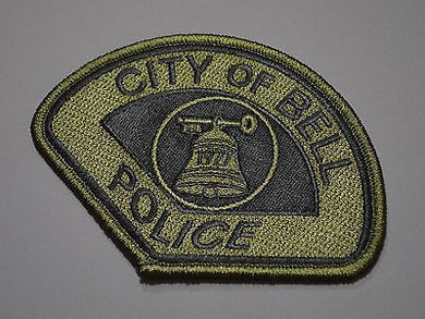 Bell California Police Subdued Patch ++ Mint Los Angeles County CA HTF