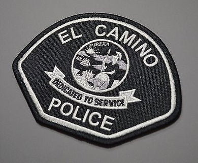 El Camino College California Police Subdued Tactical Patch ++ Mint CA HTF