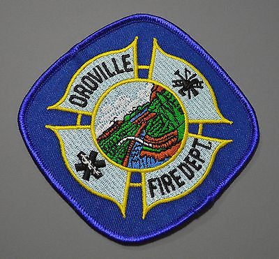 Oroville California Fire Department Patch ++ Mint Butte County CA