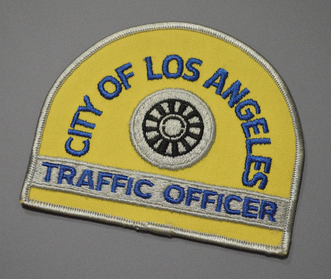 Los Angeles California Traffic Officer Patch ++ Mint CA Obsolete 1980's
