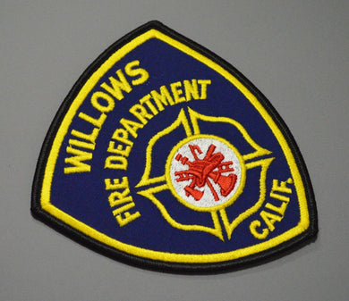 Willows California Fire Department Patch ++ Mint Glenn County CA